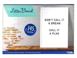 Leisure Arts Letter Board - 11 x 16 in. White