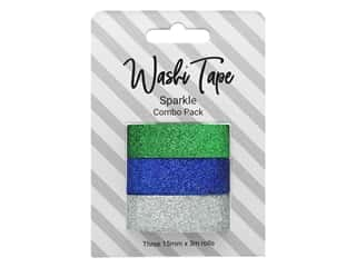 scrapbooking & paper crafts: PA Essentials Washi Tape Combo Pack 3 pc. Glitter Sparkle
