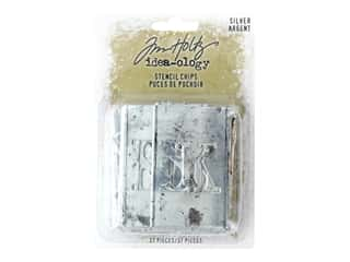 scrapbooking & paper crafts: Tim Holtz Idea-ology Christmas Stencil Chips