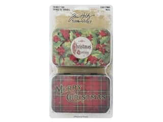 scrapbooking & paper crafts: Tim Holtz Idea-ology Christmas Trinket Tins 2 pc