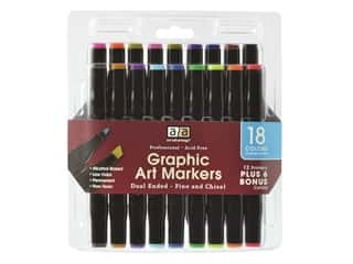 art, school & office: Art Advantage Graphic Art Markers Dual End 18 Color
