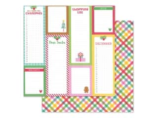 Doodlebug Collection Christmas Magic Paper 12 in. x 12 in. Plaidsome Tidings (25 pieces)