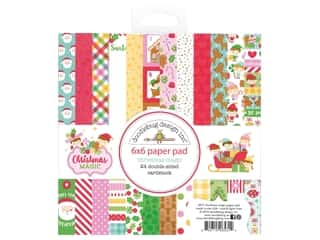 heart wreath: Doodlebug Collection Christmas Magic Paper Pad 6 in. x 6 in.