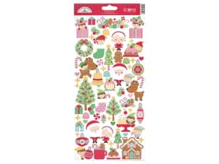 heart wreath: Doodlebug Collection Christmas Magic Sticker Icons (12 sets)