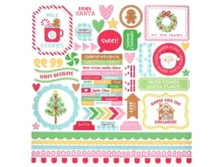 Doodlebug Collection Christmas Magic Sticker This & That (12 sets)