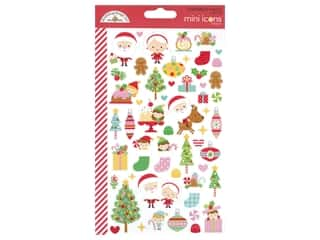heart wreath: Doodlebug Collection Christmas Magic Sticker Mini Icons (12 sets)