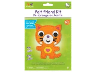 craft & hobbies: Multicraft Krafty Kids Felt Friends Kit Cat