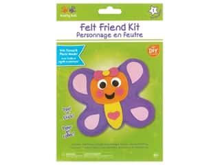 projects & kits: Multicraft Krafty Kids Felt Friends Kit Butterfly