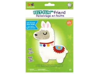 projects & kits: Multicraft Krafty Kids Felt Friends Kit Llama