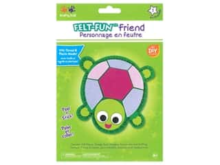 craft & hobbies: Multicraft Krafty Kids Felt Friends Kit Turtle