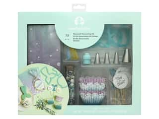 American Crafts Collection Sweet Tooth Fairy Decorating Kit Mermaid 75 pc