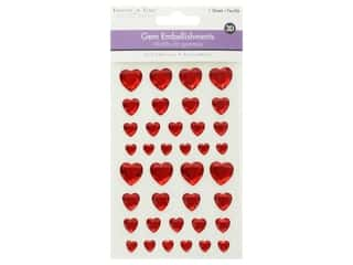 scrapbooking & paper crafts: Multicraft Sticker 3D Gem Red Hearts