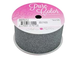 Morex Ribbon Dazzle 1.5 in. x 3 yd Metal Grey
