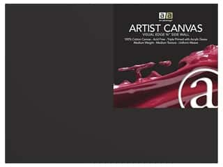 art, school & office: Art Advantage Artist Canvas 12 in. x 12 in. Black