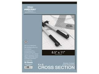 Pro Art Paper Cross Section Pad 8 x 8 Grid/Inch 8.5 in. x 11 in.  50 pc