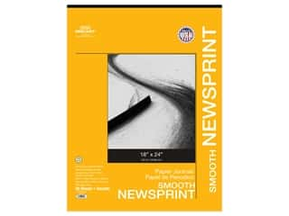 Pro Art Newsprint Paper Pad Smooth 18 in. x 24 in. 32 lb 50 pc