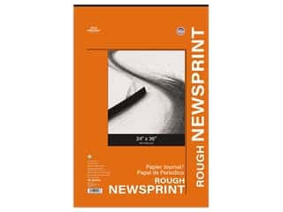 Pro Art Newsprint Paper Pad Rough 24 in. x 36 in. 32 lb 50 pc