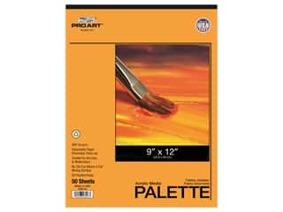 Pro Art Acrylic Media Disposable Palette Pad - 9 x 12 in. 50 pc.