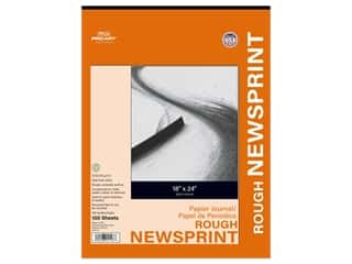 Pro Art Newsprint Paper Pad Rough 18 in. x 24 in. 32 lb 100 pc