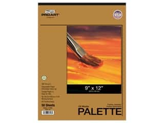 Pro Art Palette Disposable Pad Oil 9 in. x 12 in. 50 pc