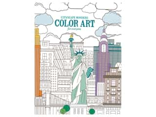 Leisure Arts Cityscape Wonders Color Art For Everyone Coloring Book