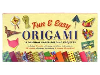 scrapbooking & paper crafts: Tuttle Publishing Origami Fun & Easy Kit With 2 How To Book
