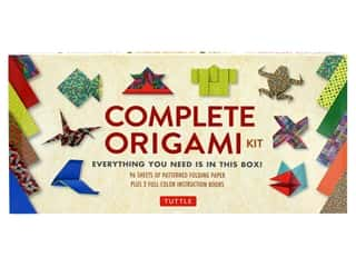 scrapbooking & paper crafts: Tuttle Publishing Origami Complete Kit With 2 How To Book