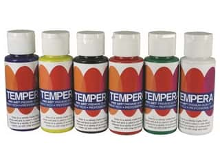 Pro Art Tempera Liquid Paint 2 oz Set Regular 6 pc
