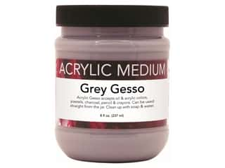 Art Advantage Medium Acrylic Gesso 8oz Gray