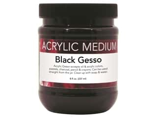 Art Advantage Medium Acrylic Gesso 8 oz Black
