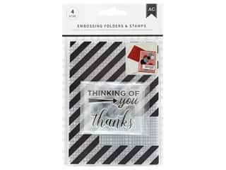projects & kits: American Crafts Embossing Folder & Stamp Set Thankful Thinking