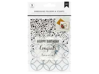 scrapbooking & paper crafts: American Crafts Embossing Folder & Stamp Set Hooray
