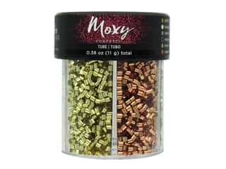 American Crafts Collection Moxy Tube Confetti 6 Compartment Jar Metallic