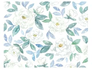 scrapbooking & paper crafts: American Crafts Poster Board 22 x 28 in. Peony Watercolor