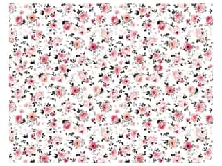 American Crafts Poster Board 22 x 28 in. Floral Pink & Black