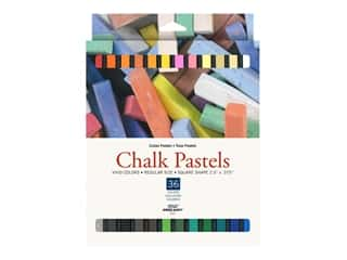 Pro Art Chalk Pastel Square Vivid Colors 36pc