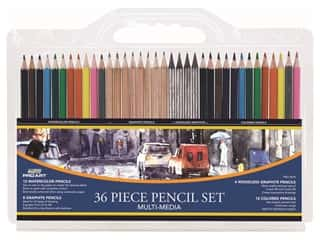 Pro Art Pencil Multi Media Drawing Set 36 pc