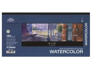 Pro Art Watercolor Paper Pad 6 x 12 in. 140 lb. 15 Sheet
