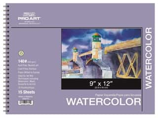 Pro Art Watercolor Paper Pad 9 x 12 in. 140 lb. 15 Sheet Spiral