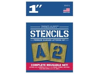 Pro Art Oil Board Stencil Lettering Set 1 in.
