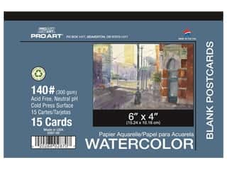 Pro Art Watercolor Paper Pad 4 x 6 in. 140 lb. 15 Sheet