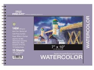 Pro Art Watercolor Paper Pad 7 x 10 in. 140 lb. 15 Sheet Spiral