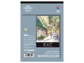 Pro Art Watercolor Paper Pad 5 x 7 in. 90 lb. 12 Sheet