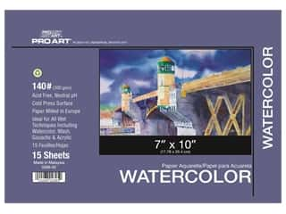 Pro Art Watercolor Paper Block 7 x 10 in. 140 lb. 15 Sheets