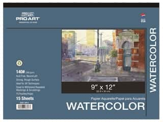 Pro Art Watercolor Paper Pad 9 x 12 in. 140 lb. 15 Sheet
