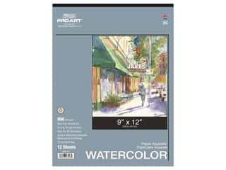 Pro Art Watercolor Paper Pad 9 x 12 in. 90 lb. 12 Sheet