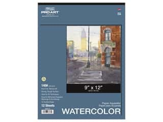 Pro Art Watercolor Paper Pad 9 x 12 in. 140 lb. 12 Sheet