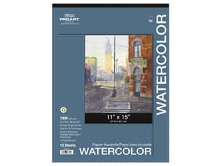 Pro Art Watercolor Paper Pad 11 x 15 in. 140 lb. 12 Sheet