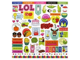 Photo Play No Pun Intended Collection Sticker Element (12 pieces)