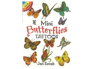 Dover Publications Little Mini Butterflies Tattoos Book